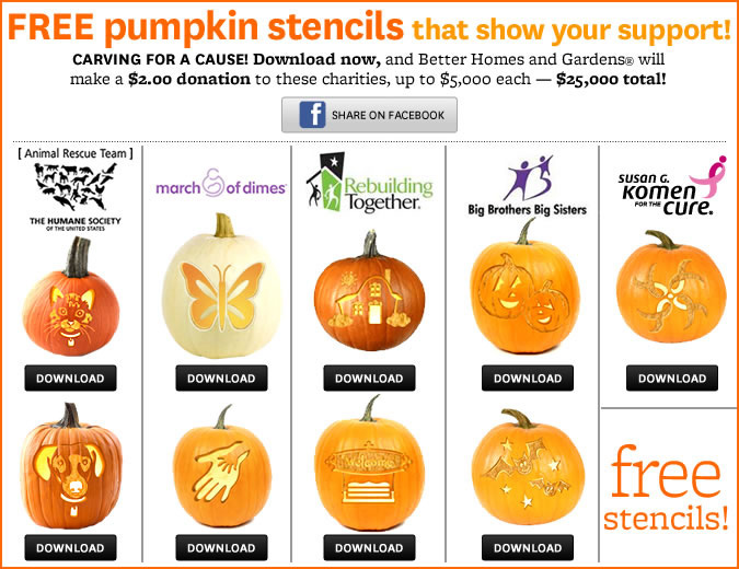 pumpkin stencils for a cause--bhg.com
