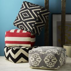 Floor pillows, available at www.westelm.com.