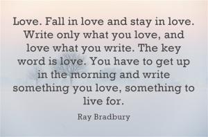 Love-Fall-in-love-and Ray Bradbury