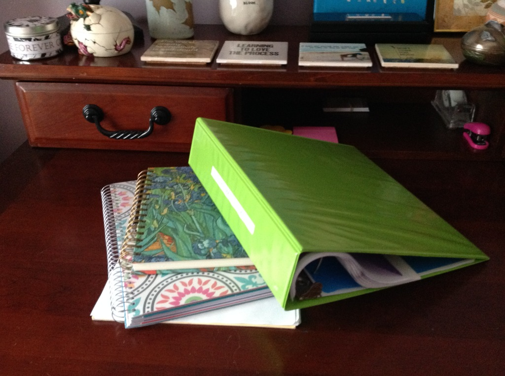 notebooks and binder