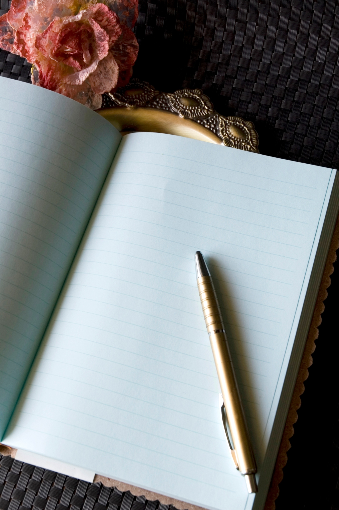 blank page of journal
