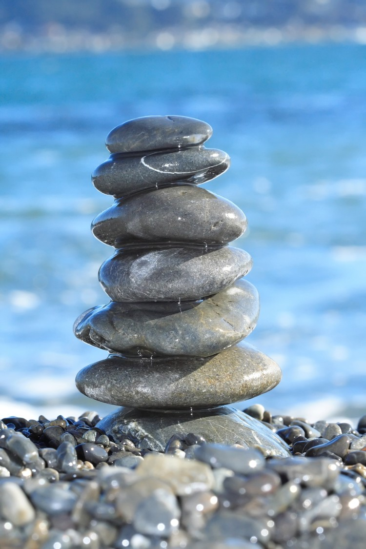 Stack of stones balanced