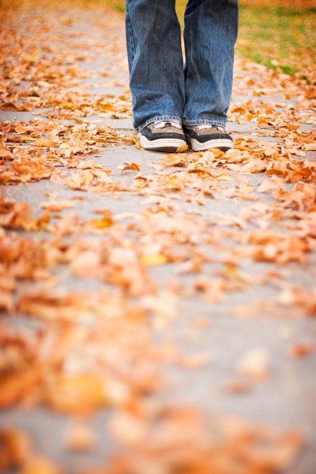 shoes on sidewalk