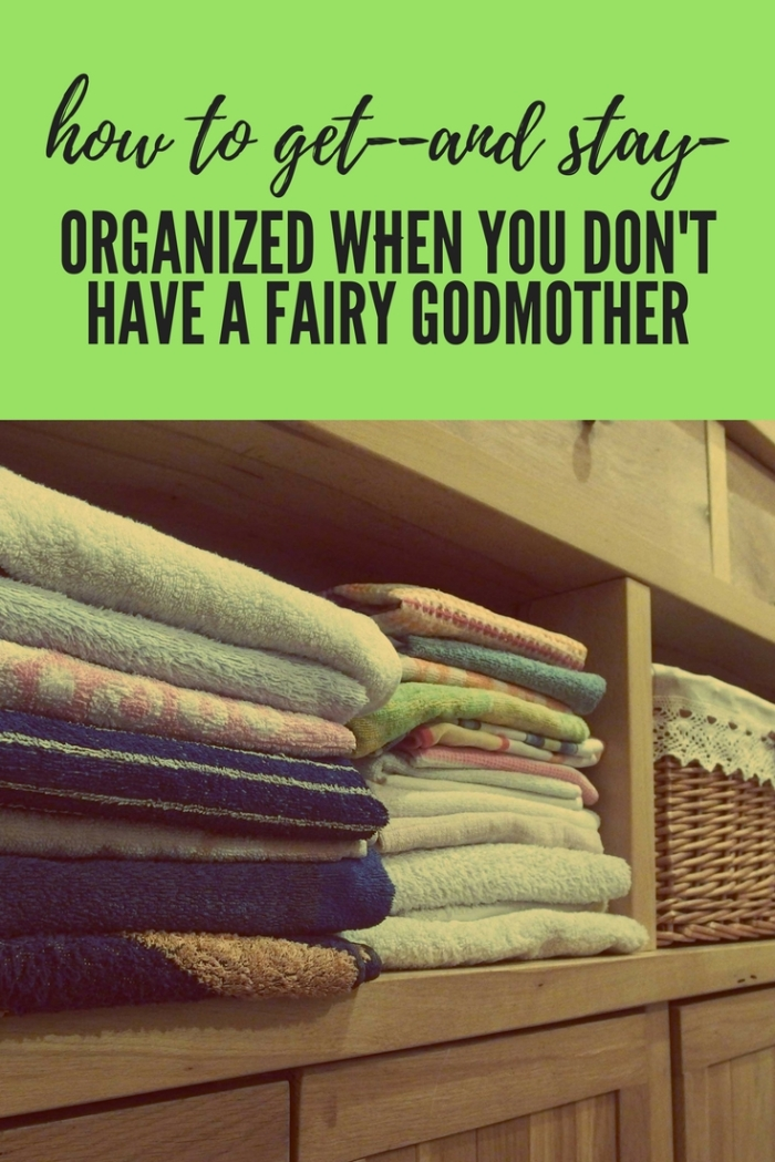 how to get and stay organized graphic